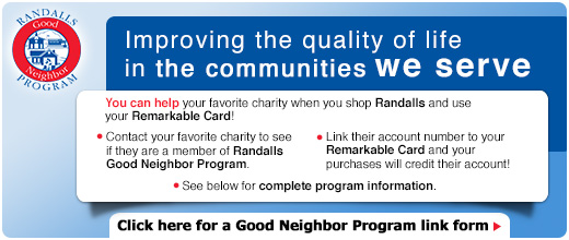 Randall's good neighbor program CATNIP CASA IS 13576